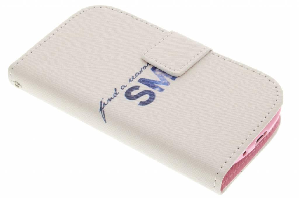 Smile design TPU booktype hoes voor de Samsung Galaxy S3 Mini