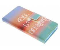 Design TPU booktype hoes Sony Xperia M2 (Aqua)