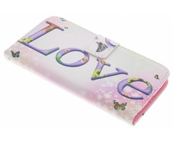 Design TPU booktype hoes LG G2