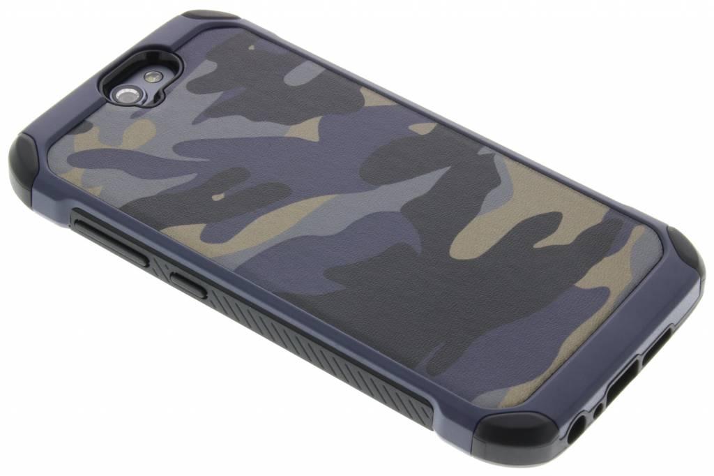 Blauwe army defender hardcase hoesje voor de HTC One A9