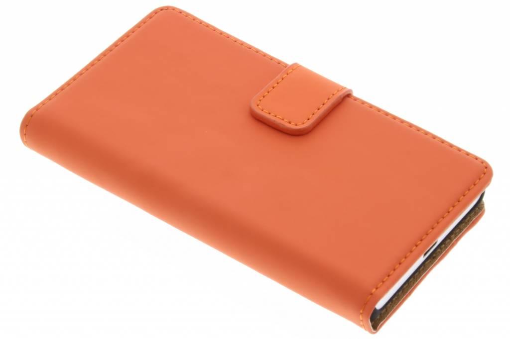 Selencia Luxe Book Case voor de Sony Xperia Z5 Compact - Oranje