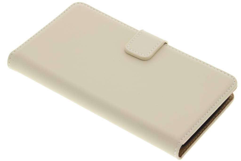 Selencia Luxe Book Case voor de Wiko Lenny - Gebroken wit