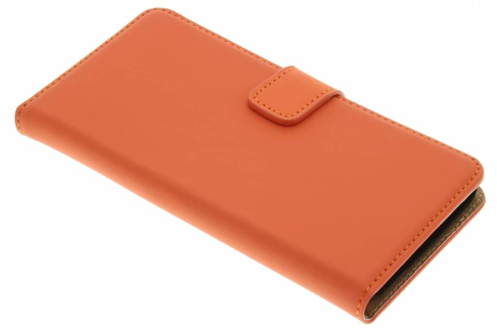 Selencia Luxe Book Case voor de Wiko Lenny - Oranje