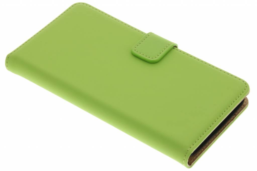 Selencia Luxe Book Case voor de Wiko Lenny - Groen