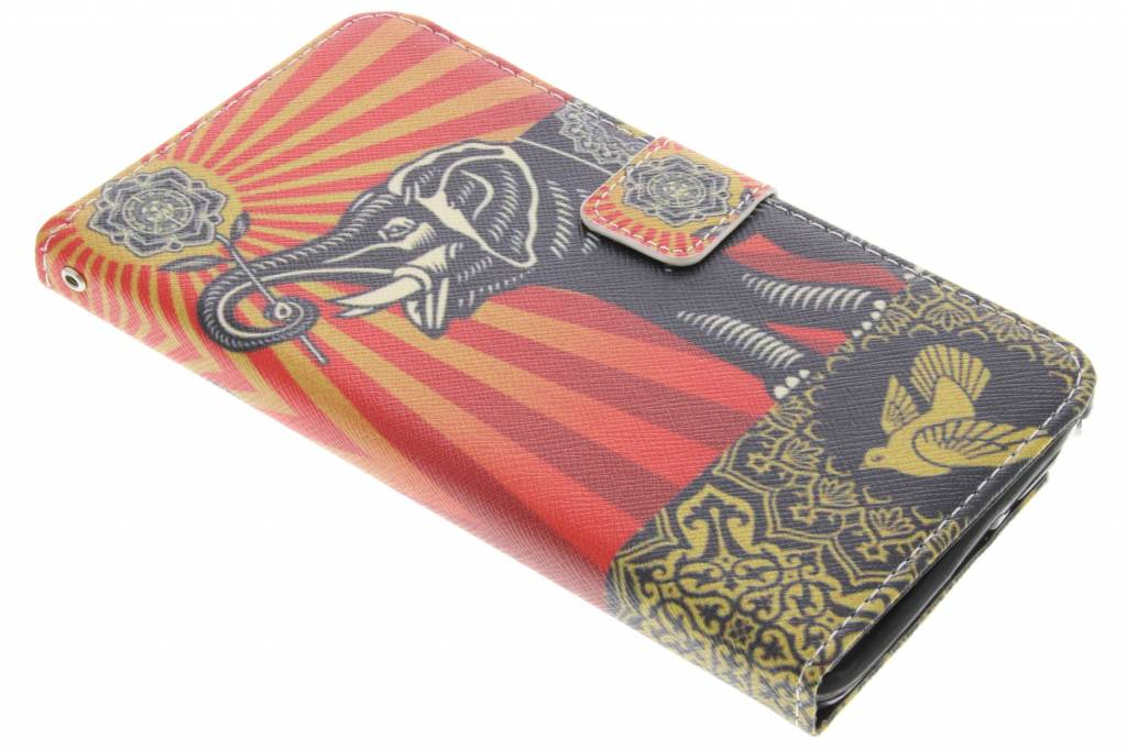 Olifant design TPU booktype hoes voor de Samsung Galaxy Note 4