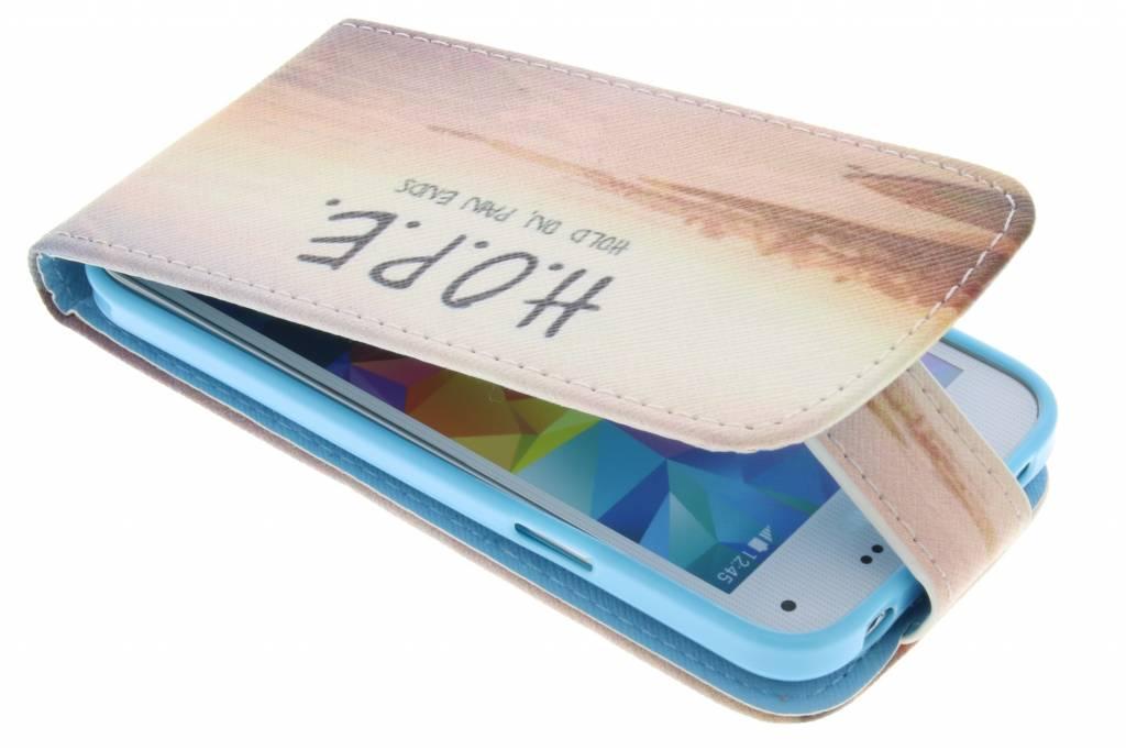 Hope design TPU flipcase voor de Samsung Galaxy S5 Mini