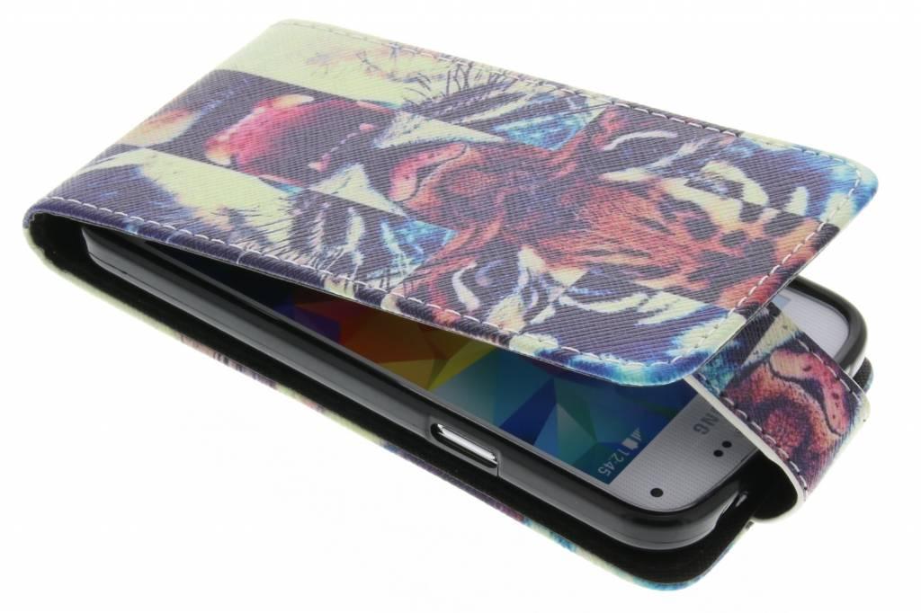Tijger design TPU flipcase voor de Samsung Galaxy S5 Mini