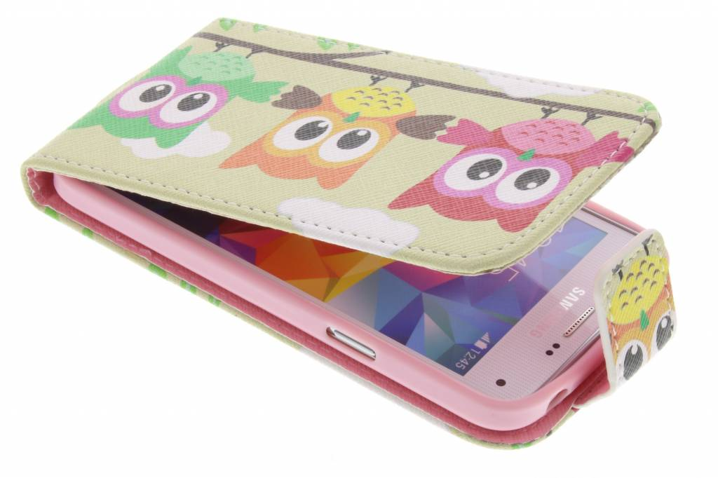 Uiltjes design TPU flipcase voor de Samsung Galaxy S5 Mini