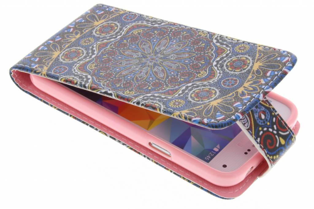 Mandala design TPU flipcase voor de Samsung Galaxy S5 Mini
