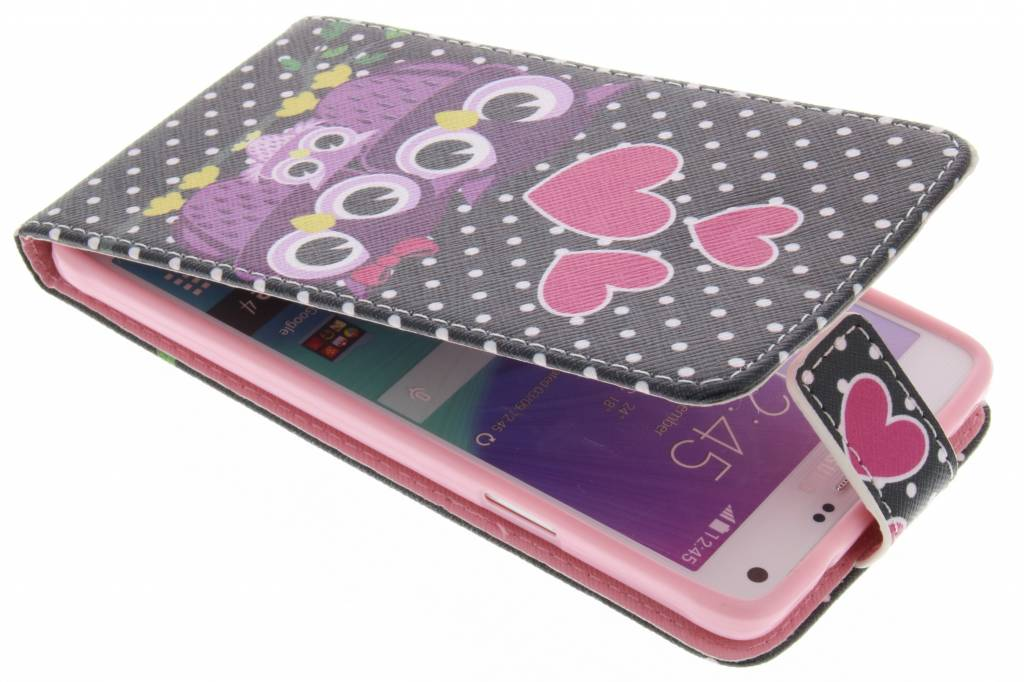 Uiltjes design TPU flipcase voor de Samsung Galaxy Note 4