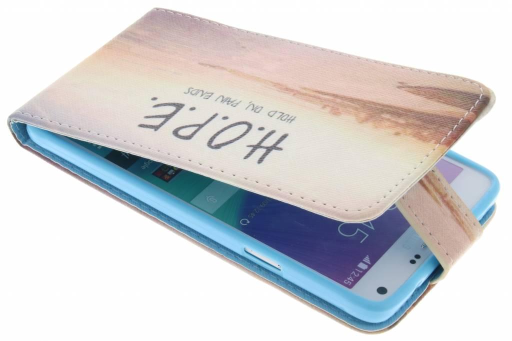 Hope design TPU flipcase voor de Samsung Galaxy Note 4