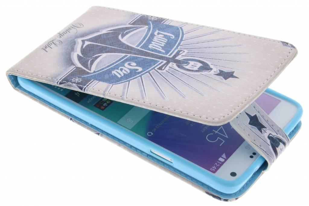 Anker design TPU flipcase voor de Samsung Galaxy Note 4