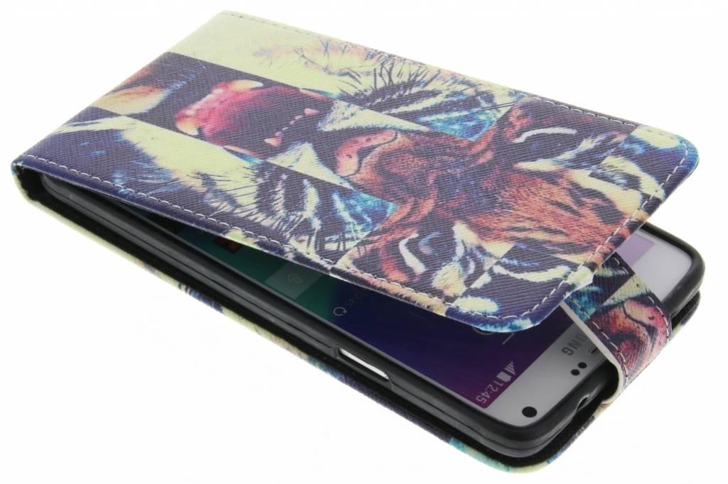 Tijger design TPU flipcase voor de Samsung Galaxy Note 4