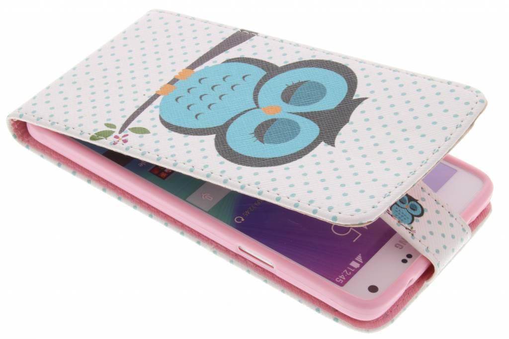 Uil design TPU flipcase voor de Samsung Galaxy Note 4