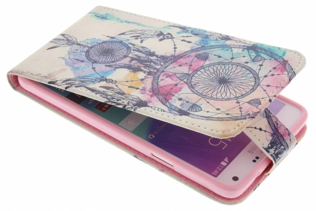 Dromenvanger design TPU flipcase voor de Samsung Galaxy Note 4