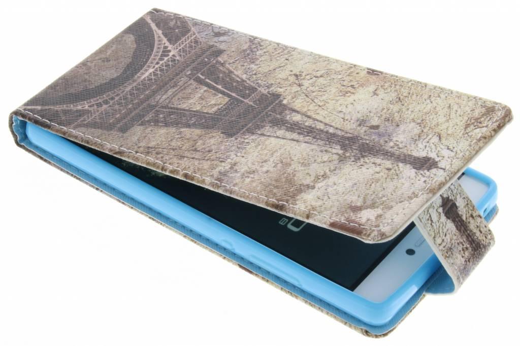 Eiffeltoren design TPU flipcase voor de Huawei P8