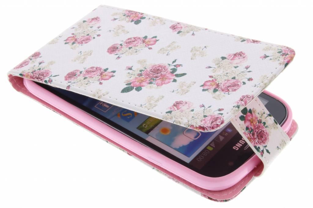 Roosjes design TPU flipcase voor de Samsung Galaxy Grand (Neo)