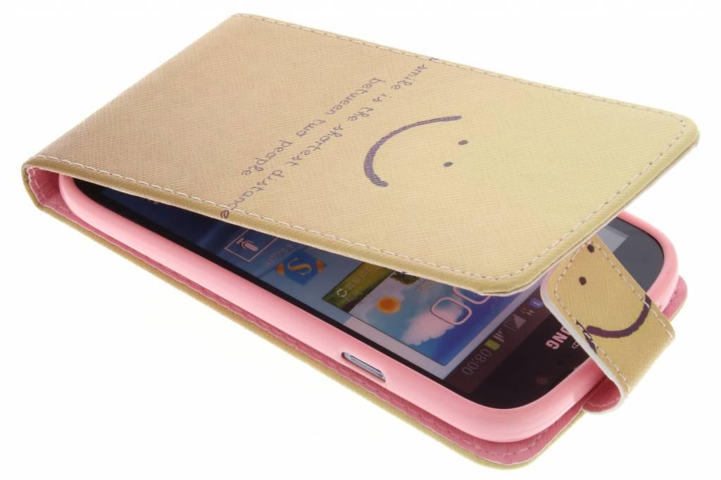 Smiley design TPU flipcase voor de Samsung Galaxy Grand (Neo)