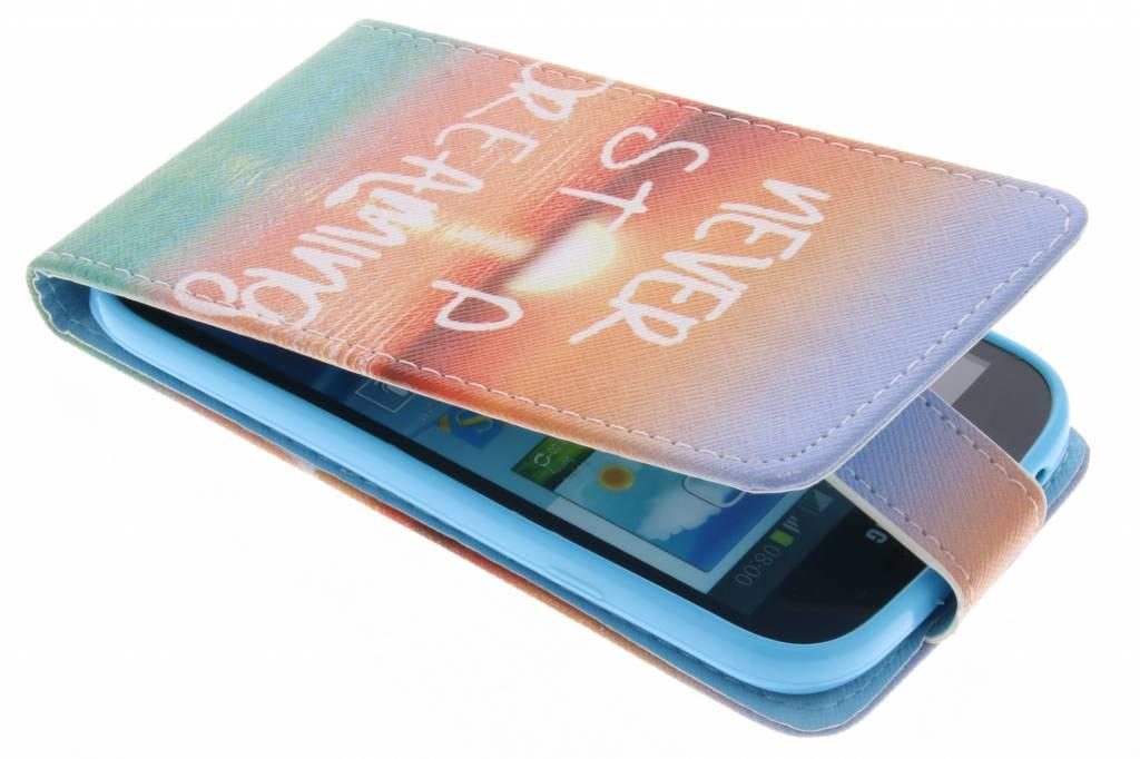 Never stop dreaming design TPU flipcase voor de Samsung Galaxy Grand (Neo)