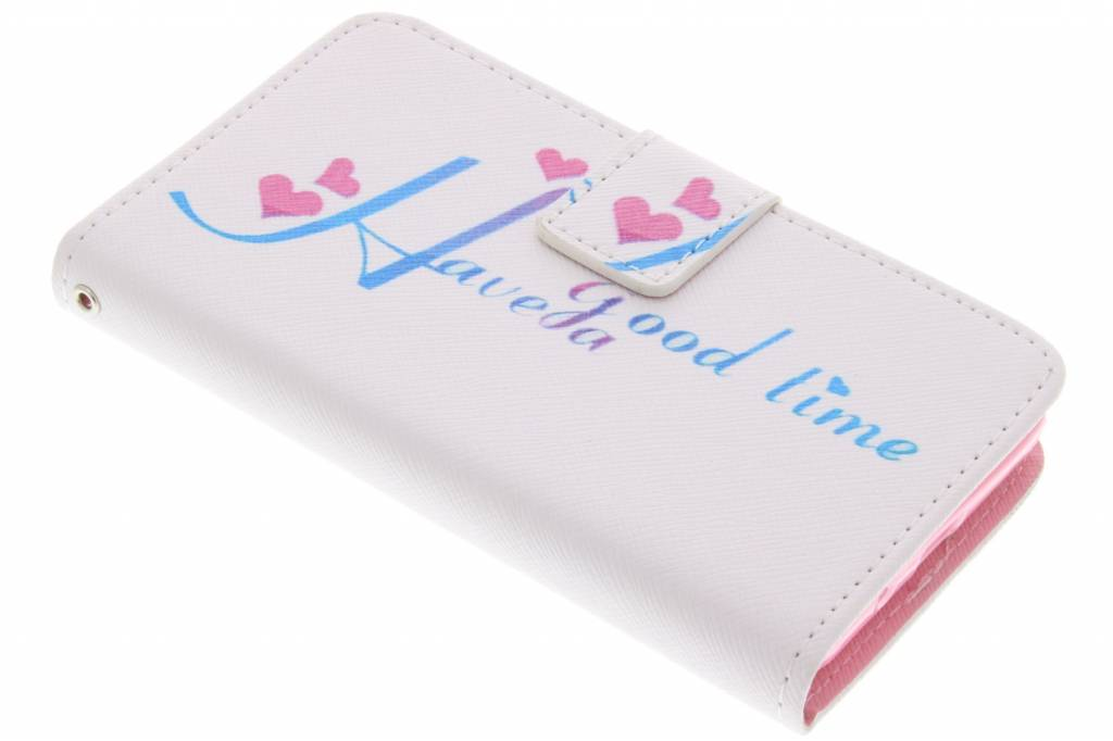Have a good time design TPU booktype hoes voor de Samsung Galaxy Core 2