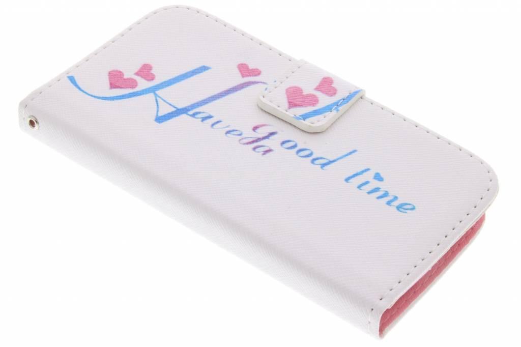 Have a good time design TPU booktype hoes voor de LG L90