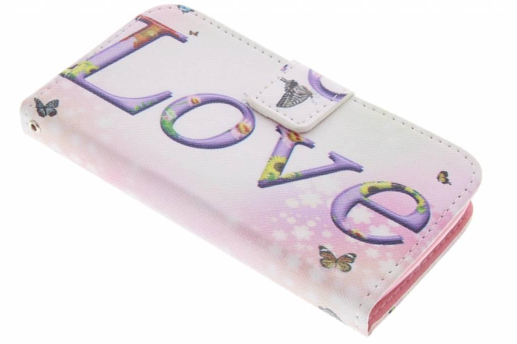 Love design TPU booktype hoes voor de LG L90