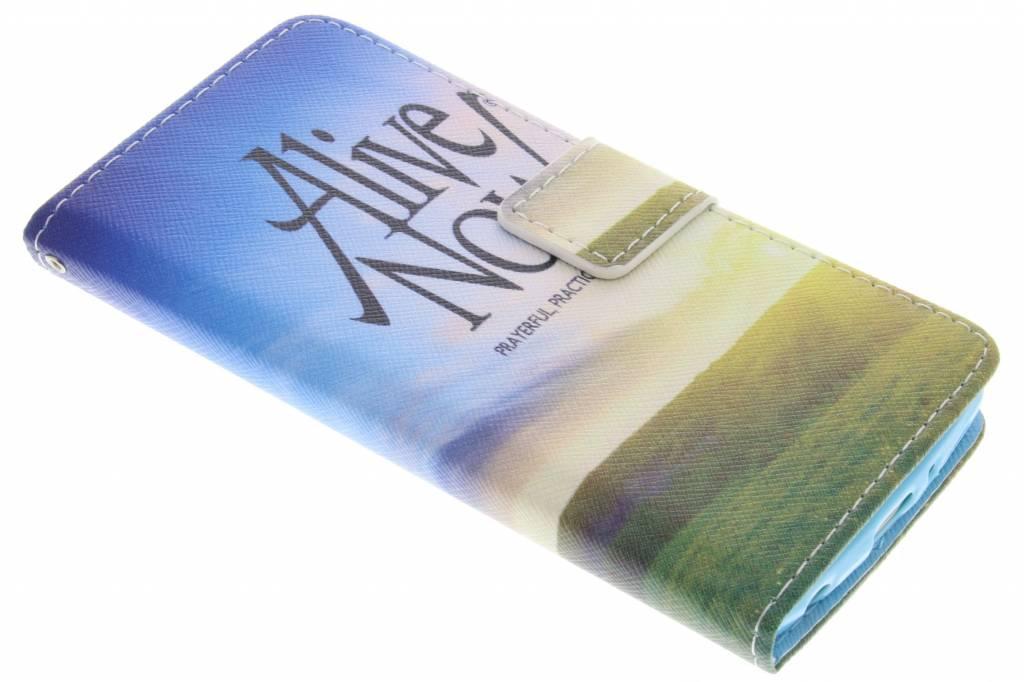 Alive now design TPU booktype hoes voor de LG G3 S