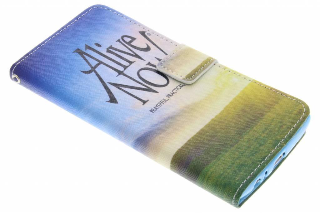 Alive now design TPU booktype hoes voor de LG G4