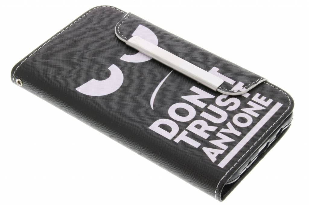 Don't trust anyone design TPU Wallet Case voor de Samsung Galaxy J1 (2016)