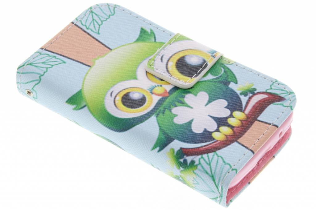 Uil design TPU booktype hoes voor de Samsung Galaxy Young 2