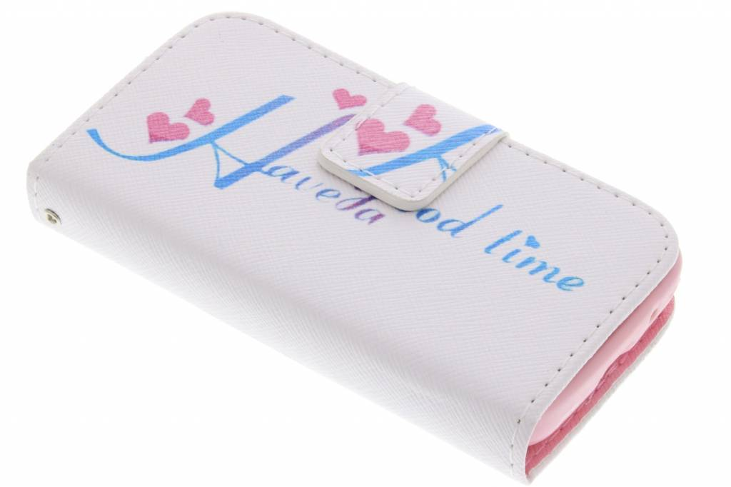 Have a good time design TPU booktype hoes voor de Samsung Galaxy Young 2