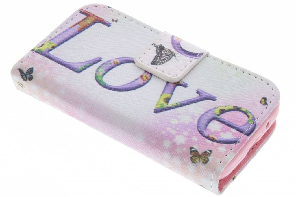 Love design TPU booktype hoes voor de Samsung Galaxy Young 2