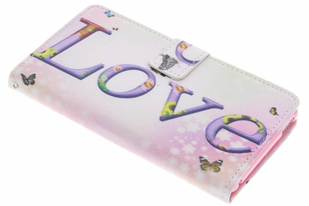 Love design TPU booktype hoes voor de Sony Xperia M4 Aqua