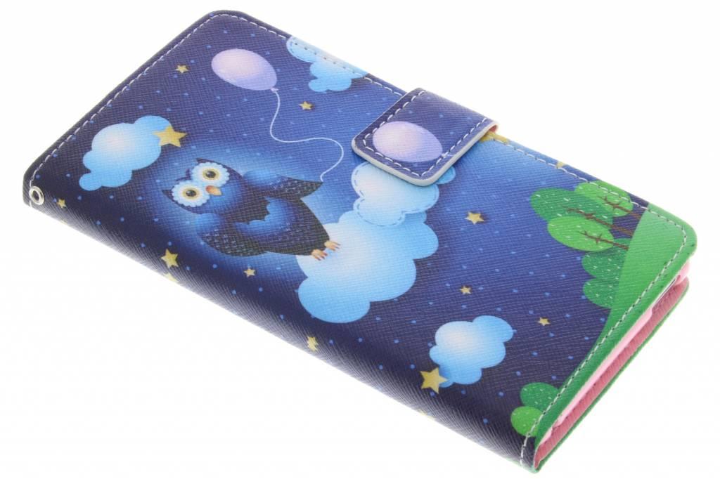 Uil design TPU booktype hoes voor de Sony Xperia M4 Aqua