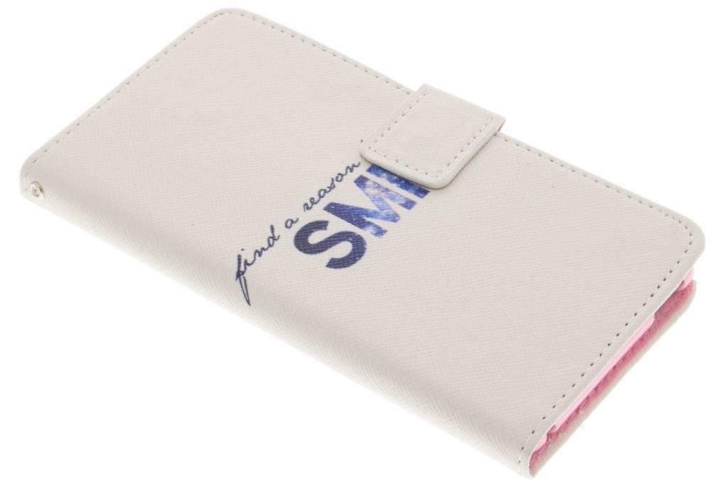 Smile design TPU booktype hoes voor de Sony Xperia M4 Aqua