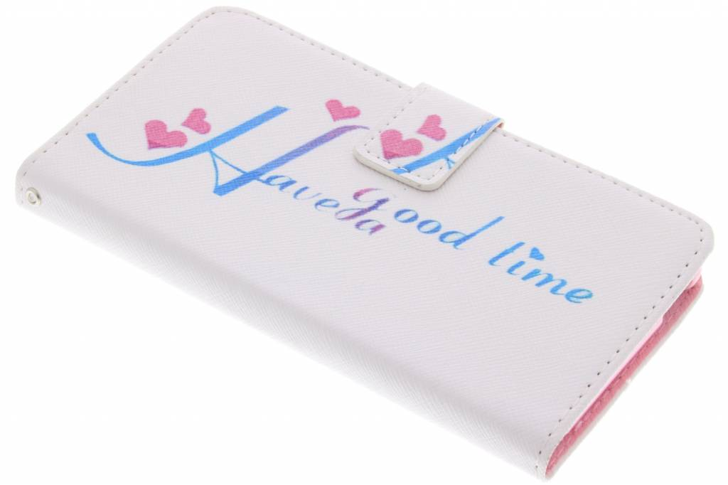 Have a good time design TPU booktype hoes voor de Sony Xperia M4 Aqua