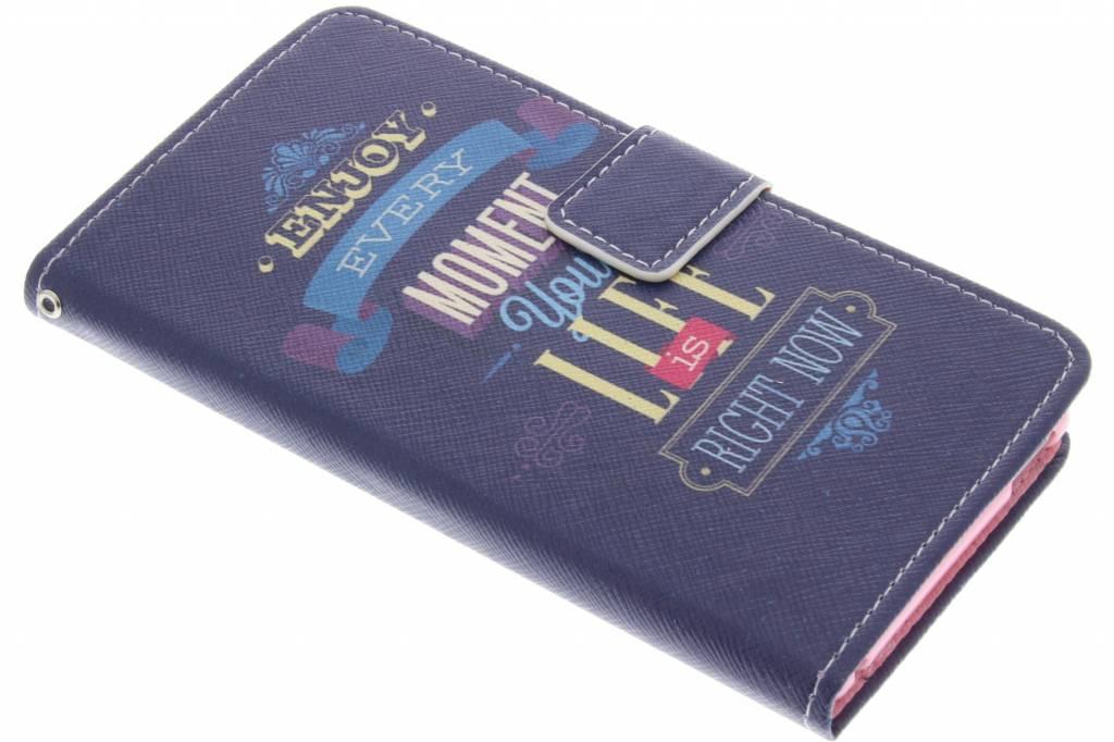 Enjoy design TPU booktype hoes voor de Sony Xperia M4 Aqua