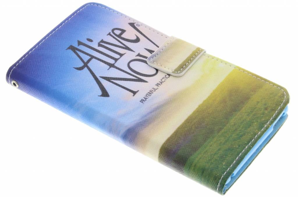 Alive now design TPU booktype hoes voor de Sony Xperia M4 Aqua