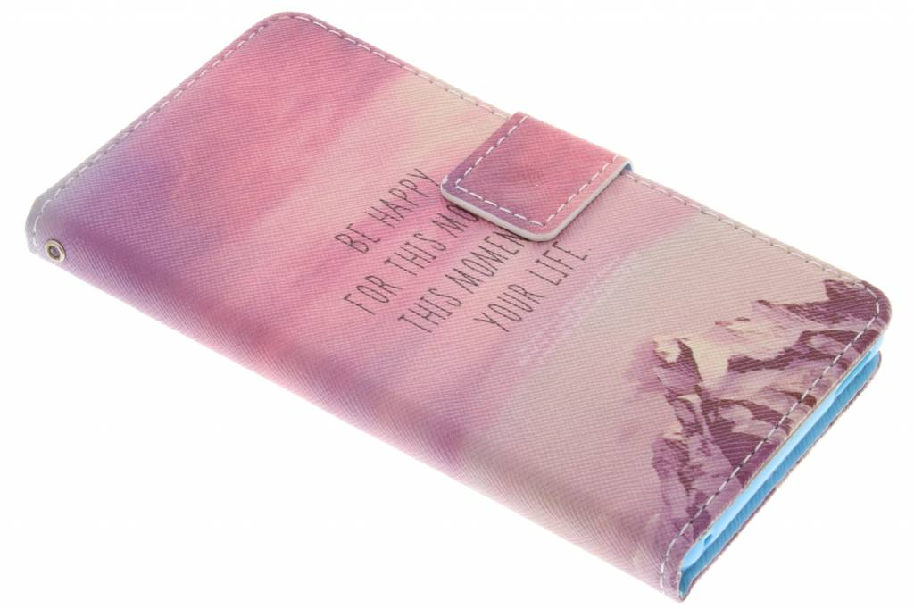 Be happy design TPU booktype hoes voor de Sony Xperia M4 Aqua