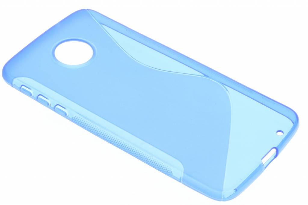 Blauw S-line TPU hoesje voor de Motorola Moto Z