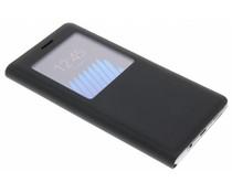 Zwart luxe slim booktype hoes met venster Galaxy Note 7