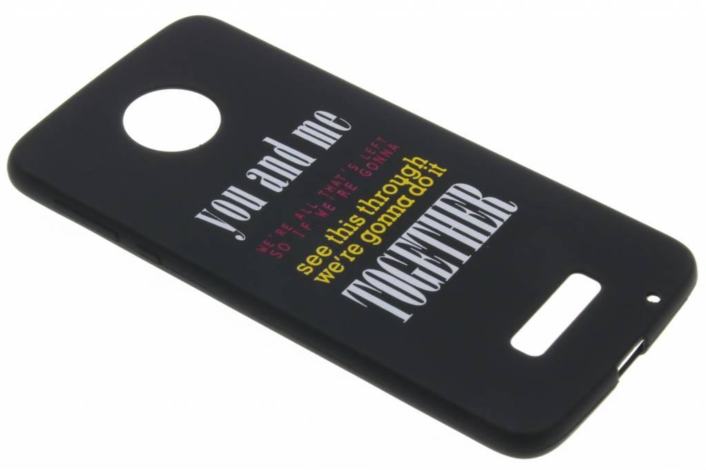 You and me glow in the dark TPU case voor de Motorola Moto Z