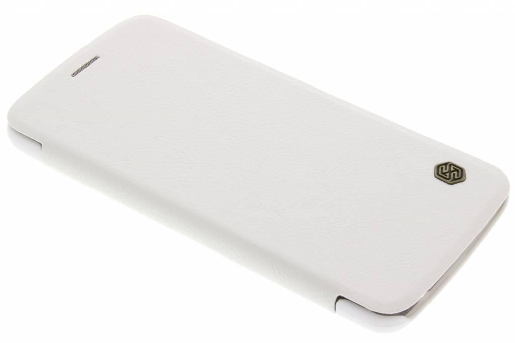 Nillkin Qin Leather slim booktype voor de Motorola Moto Z - Wit