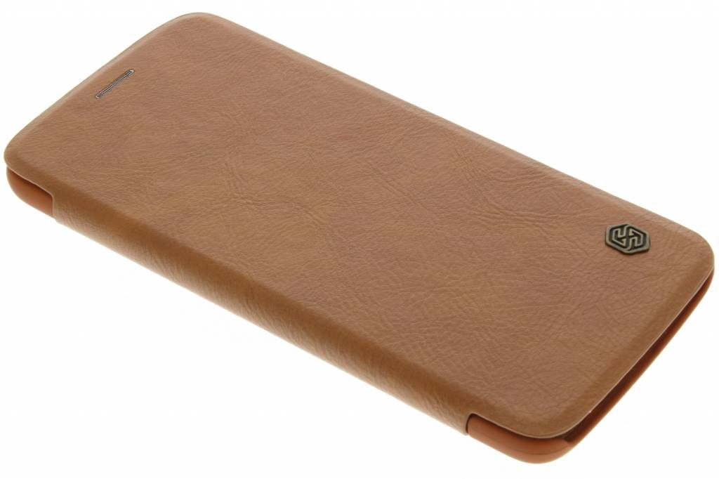 Nillkin Qin Leather slim booktype voor de Motorola Moto Z - Bruin