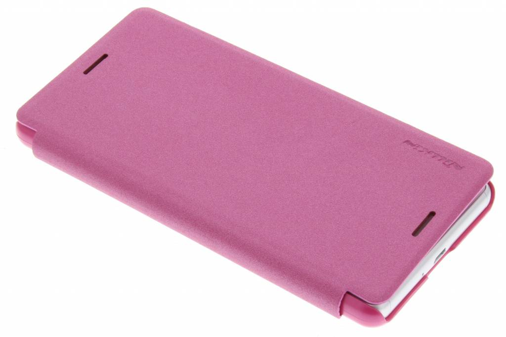 Nillkin Sparkle slim booktype hoes voor de Sony Xperia X Performance - Fuchsia