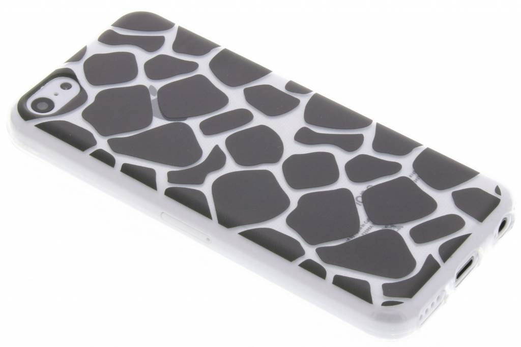 Zwart dierenprint design Giraffe TPU hoesje voor de iPhone 5c