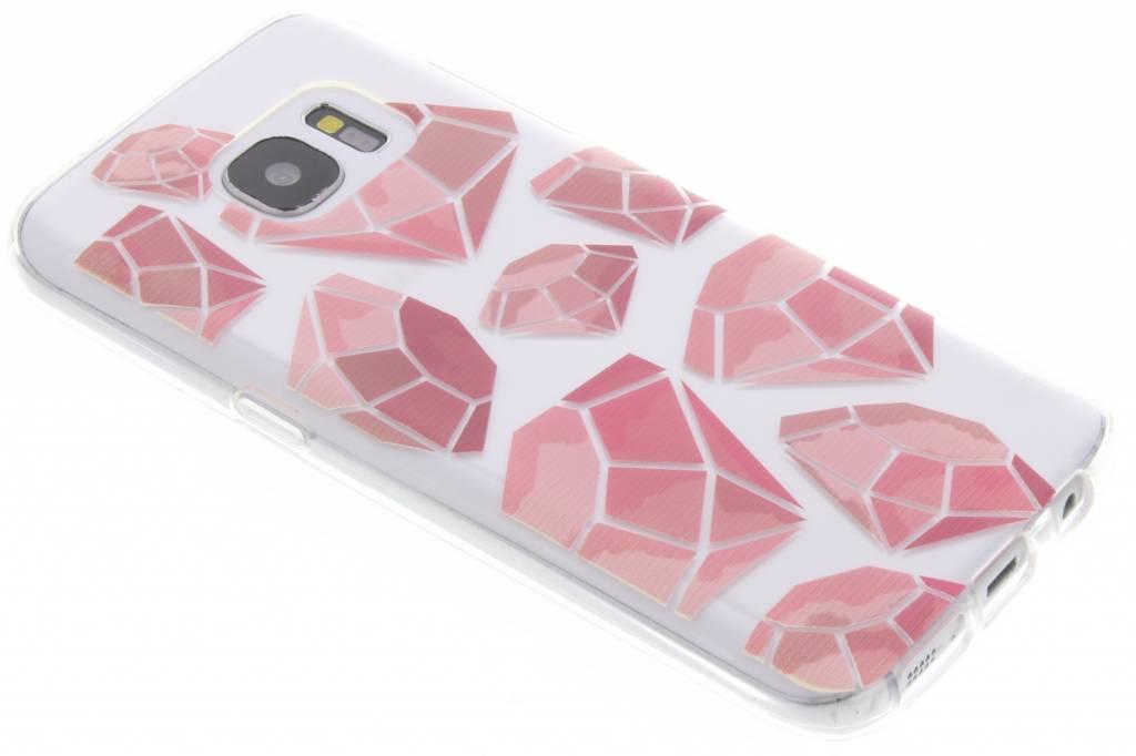 Pink diamonds design TPU hoesje voor de Samsung Galaxy S7