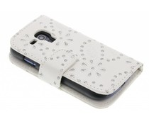 Bloemblad design booktype hoes Samsung Galaxy S3 Mini