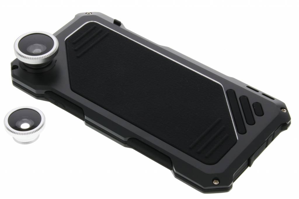 Zwarte lens to protect shell metal case voor de iPhone 6(s) Plus