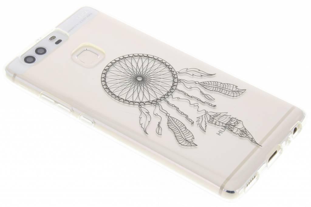 Zwart dromenvanger design TPU hoesje voor de Huawei P9